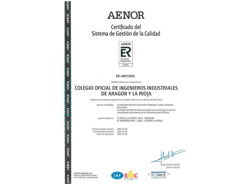 aenor | Certificados y visados |%sitename%