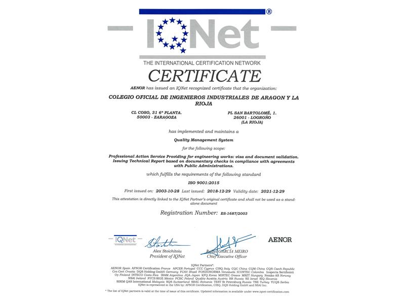 iqnet2 | Certificados y visados |%sitename%