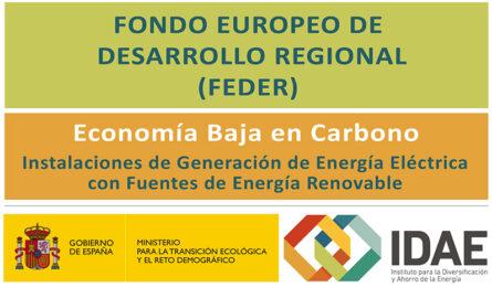 El IDAE convoca ayudas a la inversión en energías renovables en Aragón
