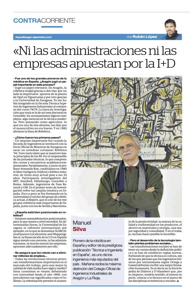 14 dic 2020 | Manuel Silva recibe de manos del Vicepresidente del Gobierno de Aragón, el Diploma de Honor de los Ingenieros Industriales |%sitename%