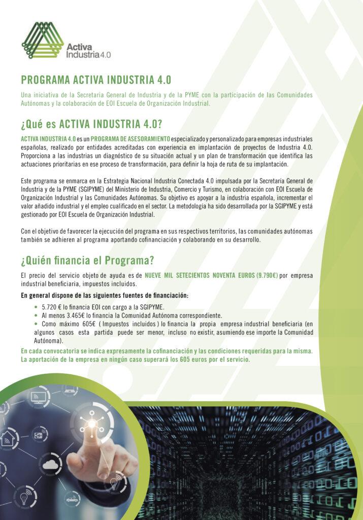 2EOI FOLLETO INDUSTRIA 2020 15 10 2020 2 1 | La EOI lanza una convocatoria de ayudas para impulsar la Industria 4.0 en Aragón |%sitename%