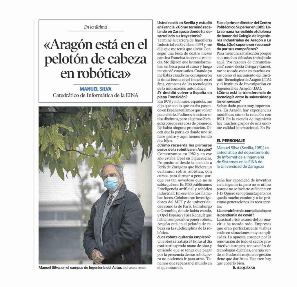 HE20121953 | Manuel Silva recibe de manos del Vicepresidente del Gobierno de Aragón, el Diploma de Honor de los Ingenieros Industriales |%sitename%