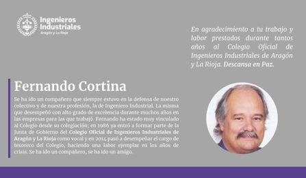 Lamentamos el fallecimiento de Fernando Cortina