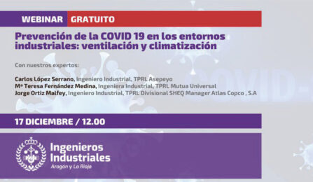 Prevención del COVID19 en los entornos industriales: ventilación y climatización