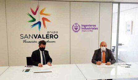 El Colegio de Ingenieros Industriales y Grupo San Valero desarrollarán conjuntamente proyectos de I+D+i y actividades formativas