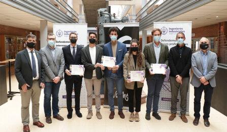 El Colegio de Ingenieros Industriales premia el talento de siete estudiantes de ingeniería