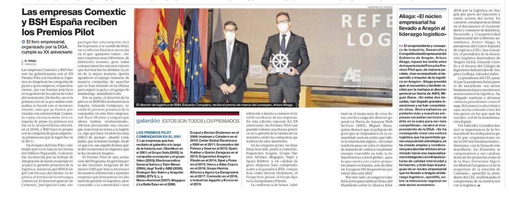 ARAGON ed55322 1 | El Colegio de Ingenieros Industriales firma el Manifiesto por la logística en Aragón junto al Gobierno, ALIA y el CEL |%sitename%
