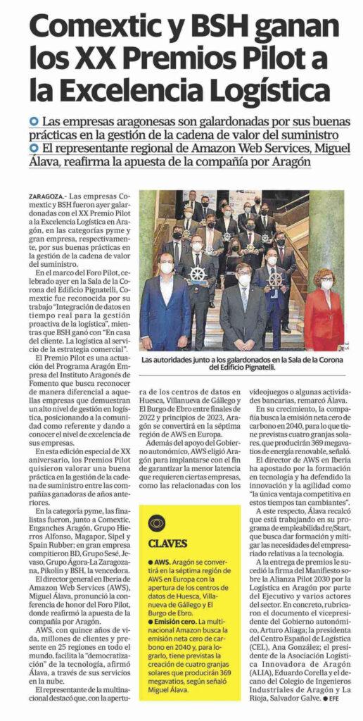 DA21042915 | El Colegio de Ingenieros Industriales firma el Manifiesto por la logística en Aragón junto al Gobierno, ALIA y el CEL |%sitename%