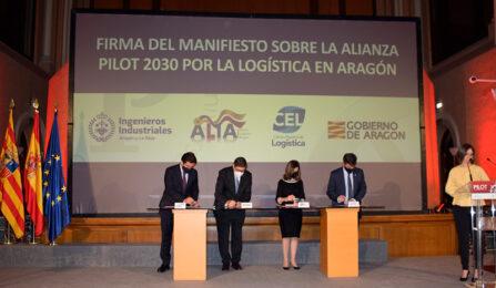 El Colegio de Ingenieros Industriales firma el Manifiesto por la logística en Aragón junto al Gobierno, ALIA y el CEL