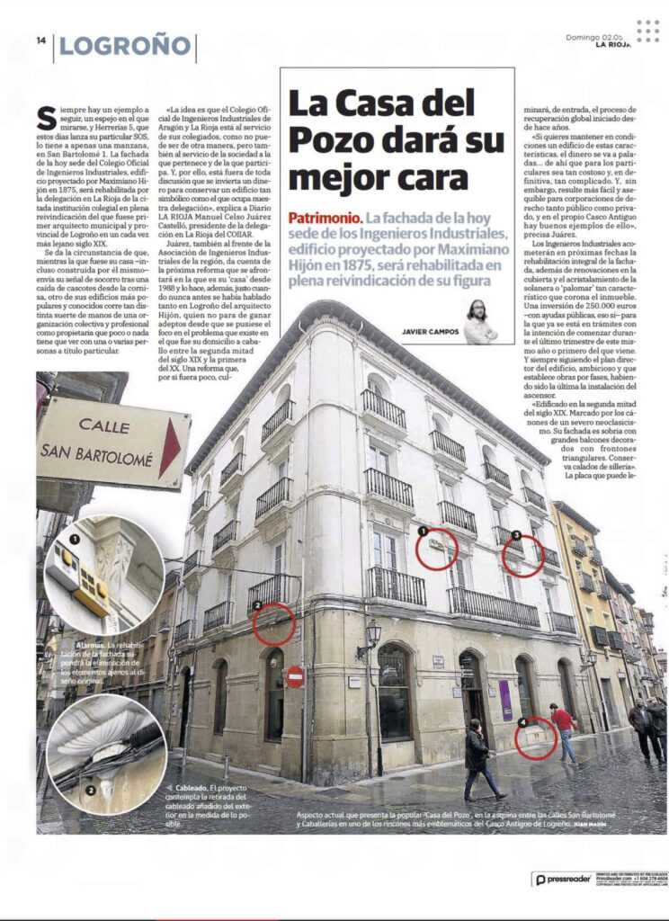 E0Z8koLXsAUi3z | La sede del Colegio de Ingenieros Industriales en Logroño en la prensa |%sitename%