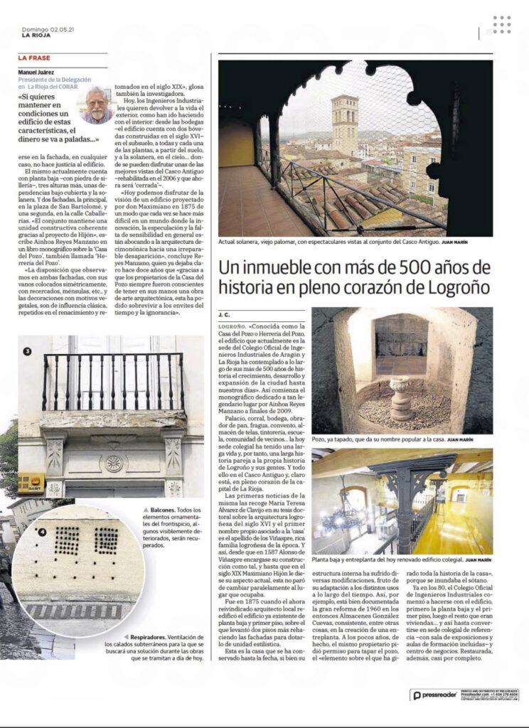 E0Z8lwWWUAYcadt | La sede del Colegio de Ingenieros Industriales en Logroño en la prensa |%sitename%