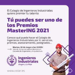 El Colegio de Ingenieros Industriales presenta los Premios MasterING
